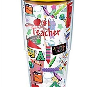 #1 Teacher Colorful Tervis